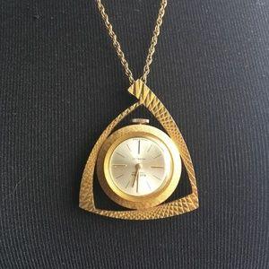 Rodania 17 Jewel Incabloc Swiss Necklace Watch
